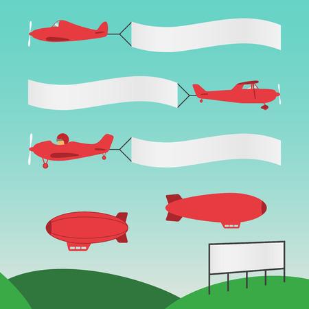 Illustration pour Plane Banners - image libre de droit