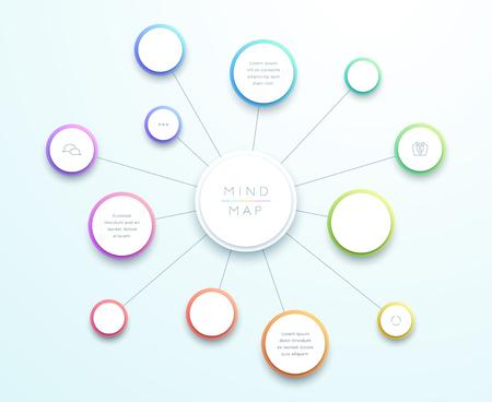 Illustration pour Abstract Vector 3d Large Mind Map Infographic - image libre de droit