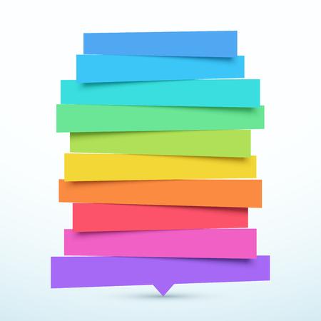 Illustration pour Tilted 10 Step Banners List Infographic Design - image libre de droit