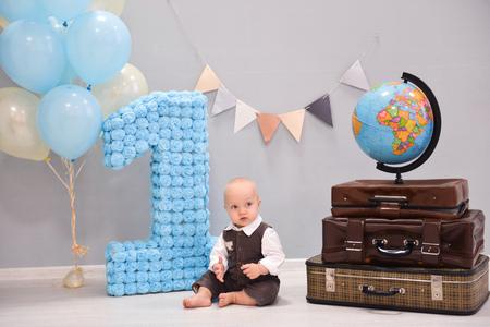 Foto für Baby's first birthday celebration photo - Lizenzfreies Bild