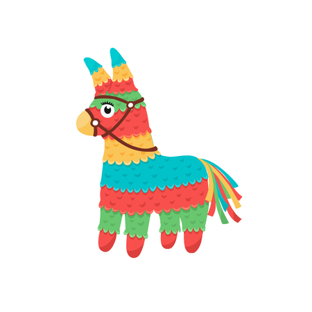 Illustration for Colorful pinata isolated on white background. Mexcian traditional birthday toy. - Royalty Free Image