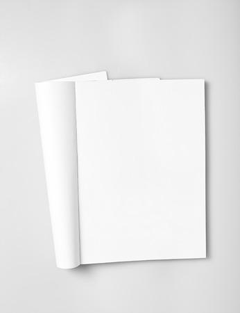Foto de Open magazine with blank white pages mockup - Imagen libre de derechos