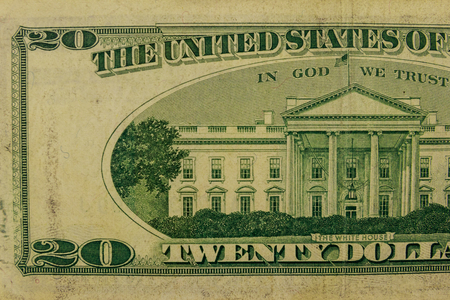 Foto de Macro shot of twenty dollar bill - Imagen libre de derechos