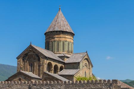 Foto de Svetitskhoveli Orthodox Cathedral n Mtskheta, Georgia - Imagen libre de derechos