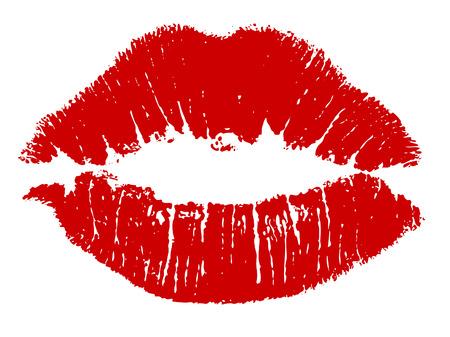 Illustration pour Red kiss lips Vector - image libre de droit