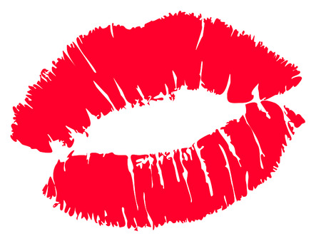 Illustration pour Red kiss lips Vector - image libre de droit