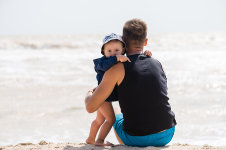 Photo for Sweet hug of little boy and father - Royalty Free Image