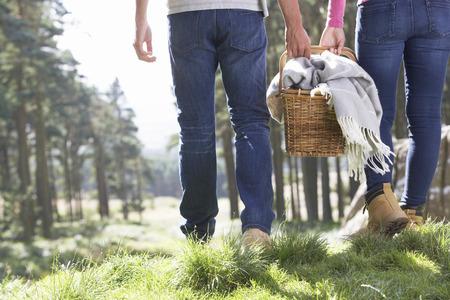 Photo pour Couple Having Picnic In Countryside - image libre de droit