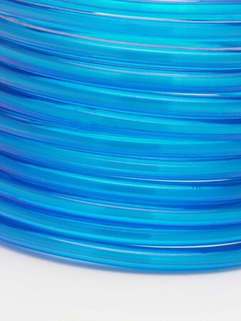 Row of blue bangles in white background