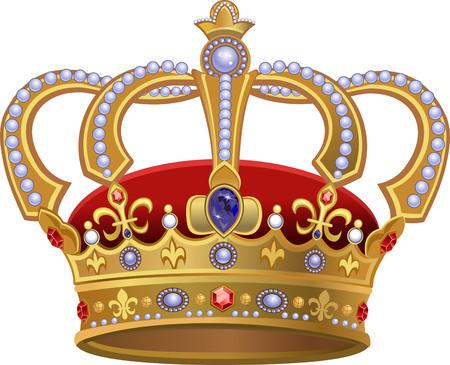 Illustration for Royal Gold Crown - Royalty Free Image