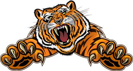 Illustration pour Tiger Jump - image libre de droit