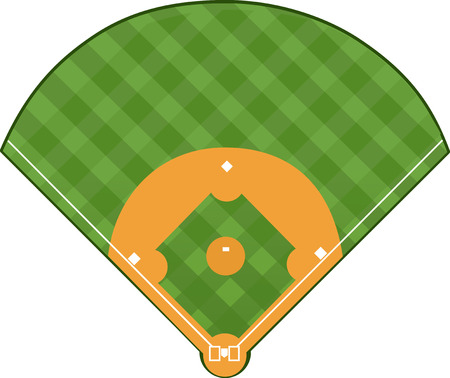 Illustration pour baseball Field - image libre de droit