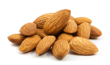 Photo for group of almonds isolated on white - Royalty Free Image