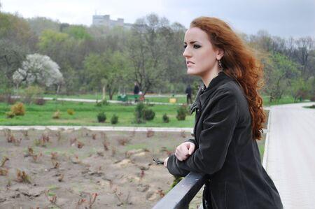 Redhead girl sad