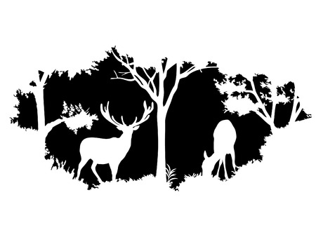 Illustration pour animal of wildlife (deer) - image libre de droit