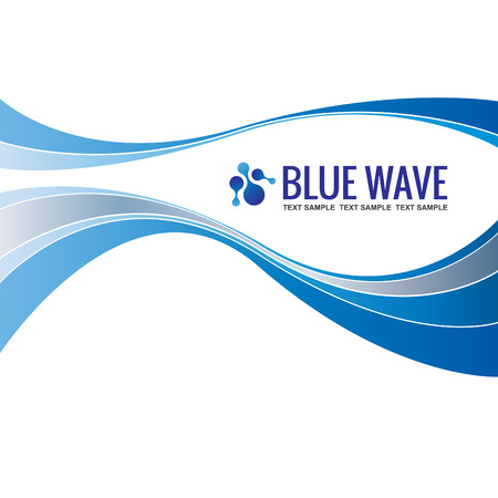 Illustration pour Business background Template Abstract Blue Wave design vector - image libre de droit