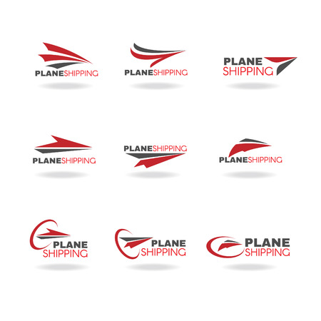 Ilustración de Plane Transportation shipping and delivery logo business vector - Imagen libre de derechos