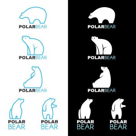 Blue white Polar bear icon vector design