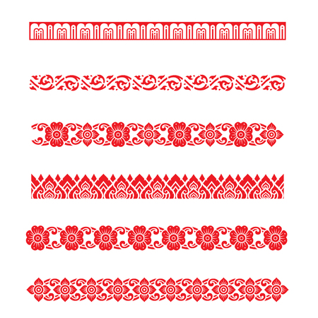 Illustration for Line pattern Asian traditional art Design Vector, Thai traditional design  Lai Thai pattern - Royalty Free Image