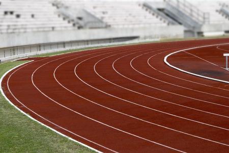 Athletics Stadium Running track curve At  Sport Stadium
