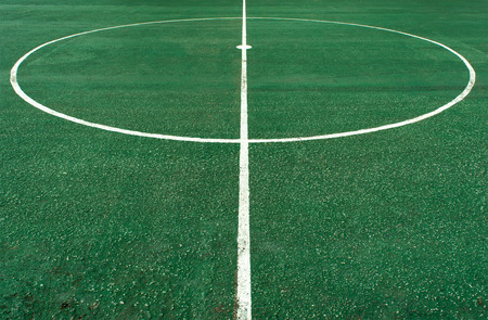 Foto de White circle line at center of football pitch - Imagen libre de derechos