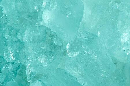 Close up Ice frozen sea blue tone style abstract background