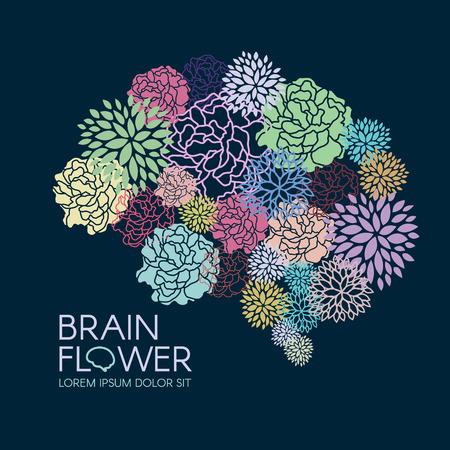 Illustration pour Beautiful Flora Brain flower abstract vector illustration - image libre de droit