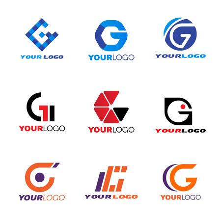 Ilustración de Letter G logo vector set design - Imagen libre de derechos