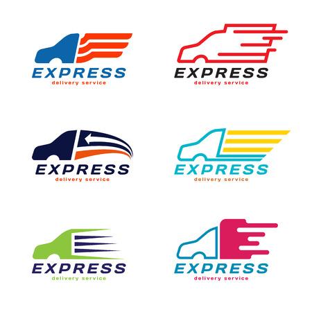 Photo pour Truck Car Express delivery service Logo.  vector set design - image libre de droit