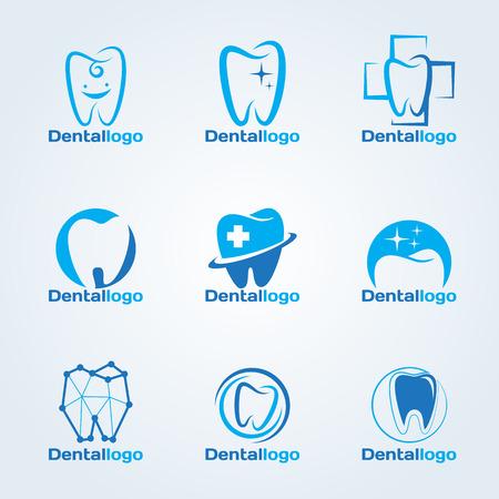 Illustration pour Dental Clinic and service logo vector set design - image libre de droit