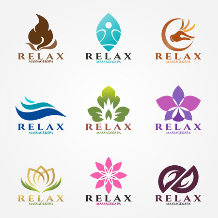 logo vector set design for massage and spa business.