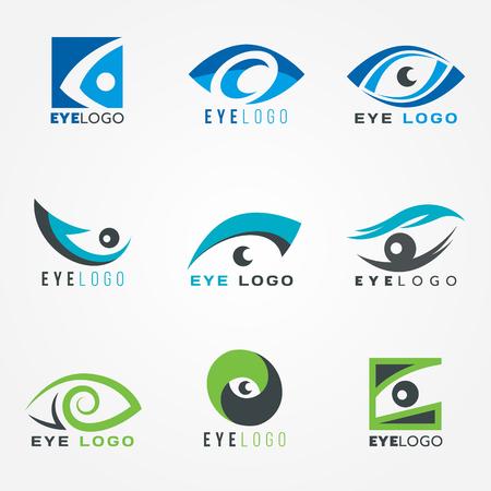 Illustration pour Eye logo sign vector set graphic design - image libre de droit