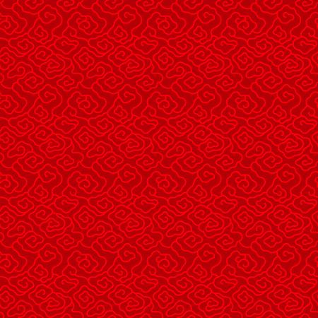 Illustration pour Red Chinese vintage cloud seamless pattern background vector design - image libre de droit