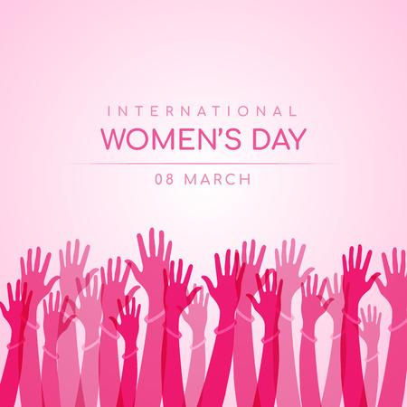 Illustration pour International women day design - image libre de droit