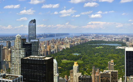 Photo for Central Park aerial view, Manhattan, New York, high quality panorama - Royalty Free Image