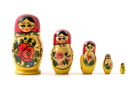 Photo for Matryoshka doll (little matron) on a white background  - Royalty Free Image