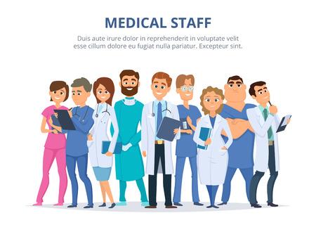 Ilustración de Group of male and female doctors. - Imagen libre de derechos