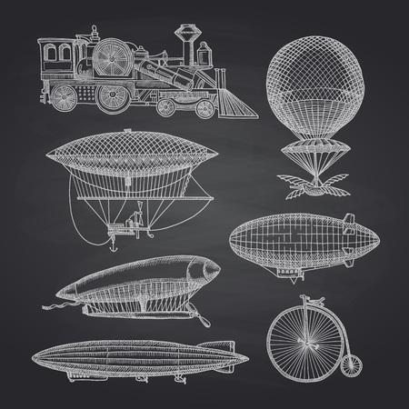 Illustration pour Vector dirigibles illustration - image libre de droit