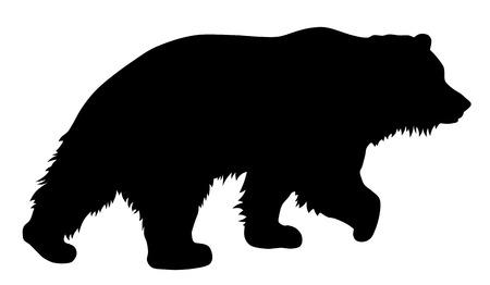 Ilustración de Vector illustration of brown bear silhouette - Imagen libre de derechos