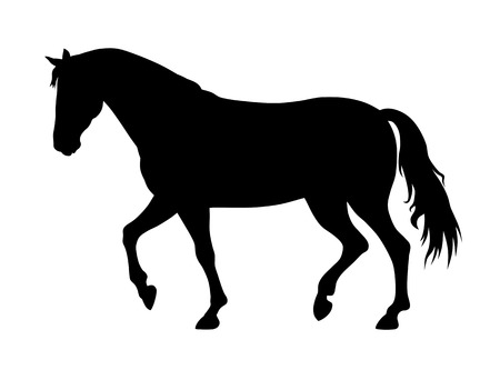 Photo for vector illustration of running horse silhouette - Royalty Free Image