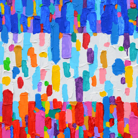 Photo for Texture, background and Colorful Image of an original Abstract Painting on Canvas. - Royalty Free Image