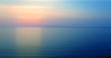Foto de Abstract background motion blurred of refraction in water with sunset on the sea at twilight times. - Imagen libre de derechos