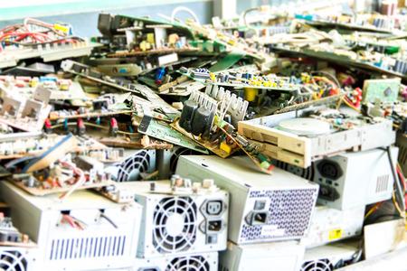 Foto de Electronic waste ready for recycling(mainboard computer) - Imagen libre de derechos