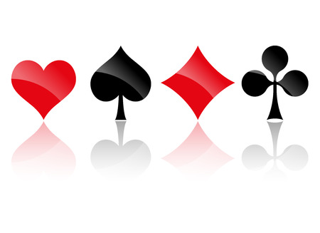 Illustration for playing card colors - Royalty Free Image