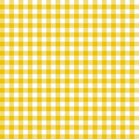 Ilustración de yellow checkered table cloth background seamless - Imagen libre de derechos