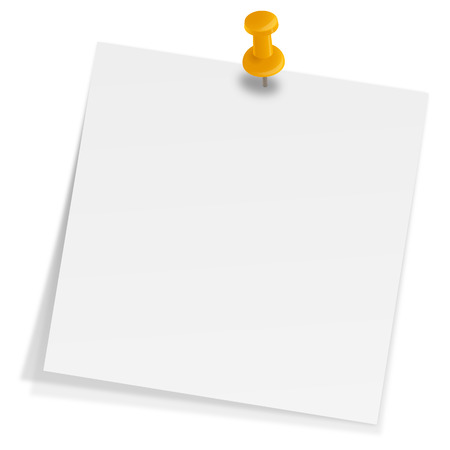 Illustration pour sticky note with pin needle - image libre de droit