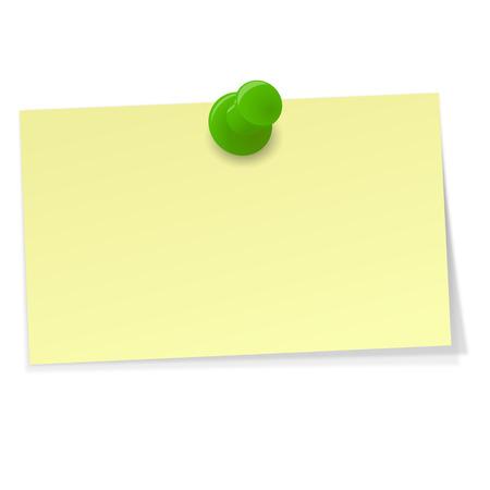 Illustration pour small memo with Pin - image libre de droit