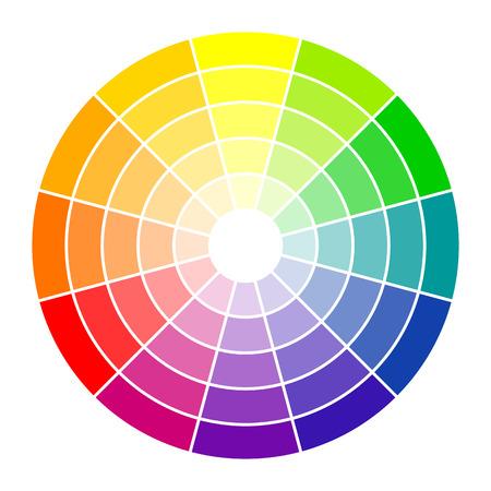 Illustration pour Color circle 12 colors - image libre de droit