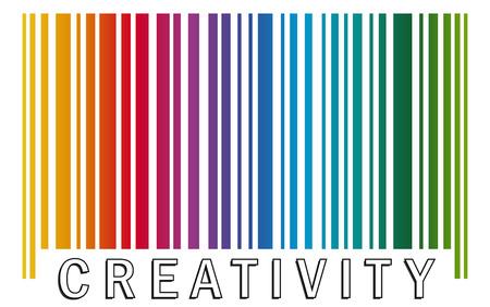 Illustration pour barcode CREATIVITY - image libre de droit