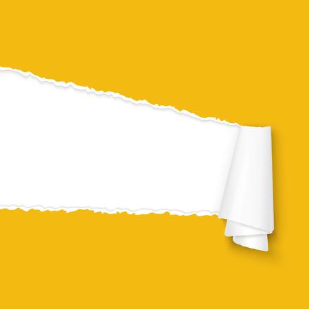 Illustration pour vector of ripped open paper colored orange - image libre de droit